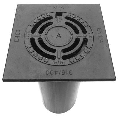 400/315 Fyrkantig Sil EVO Tel Segjärn Låsarmar Dämpring D400